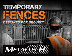 temporary fences banner